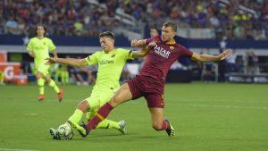 AS Roma Sukses Membekuk Barcelona