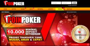 Poinpoker Agen Poker Online Uang Asli Terbaik Tanpa Robot Khususnya Di Internet